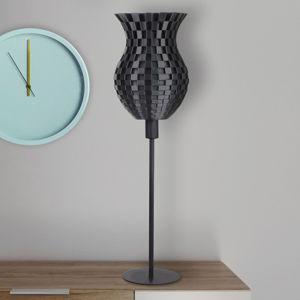 Tagwerk Stolní lampa Flechtwerk, 3D tisk, grafit