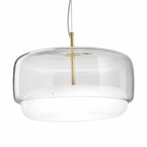 Vistosi LED závěsné světlo Jube SP G ze skla, čirá/bílá