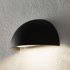 Lampenwelt.com LED venkovní nástěnné světlo Ulla, půlkulaté, šedé