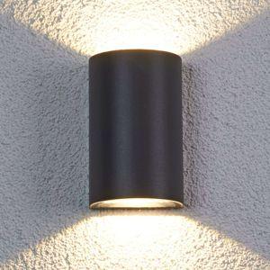 Lucande Půlkruhové LED venkovní nástěnné svítidlo Jale
