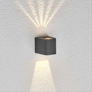 Lucande Venkovní nástěnné LED světlo Karsten