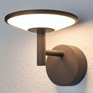 Lucande Antracitové venkovní nástěnné LED světlo Fenia