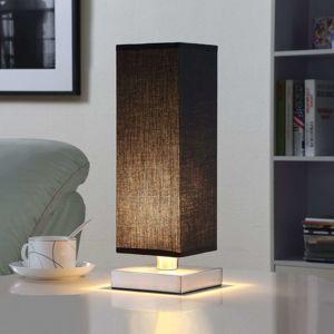 Lindby Černá textilní stolní lampa Martje s LED žárovkou