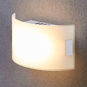 Lampenwelt.com Bílé skleněné světlo Gisela s žárovkami LED