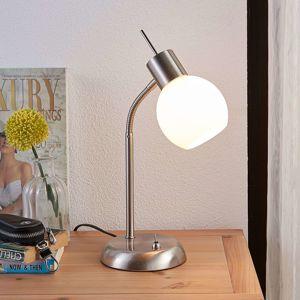 Lindby Stolní LED lampa Manon se skleněným stínidlem