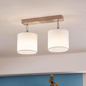 Lindby Stropní LED lampa se stínidlem, 2bodová bílá
