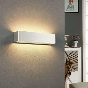 Lindby Nástěnné LED světlo Lonisa, nikl, 37 cm