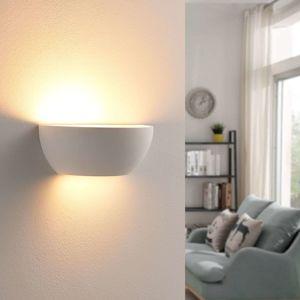 Lindby Jimmy - nástěnná LED lampa s Easydim, sádrová