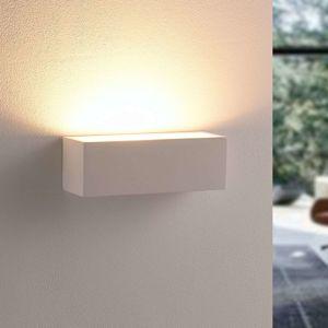 Lindby Jednoduchá sádrová nástěnná LED lampa Santino