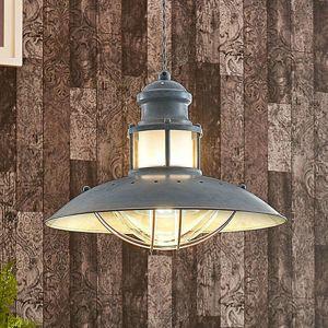 Lindby Industriální závěsná lampa Louisanne, šedá