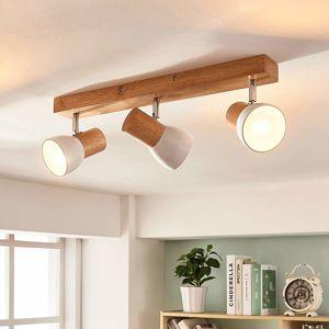 Lindby Dřevěná stropní lampa Thorin, tříbodová