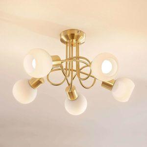 Lindby Stropní LED osvětlení Elaina, 5bodové, mosaz