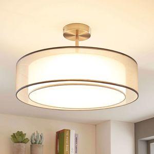Lindby Stropní LED lampa Pikka, stmívání 3 stupně, šedá