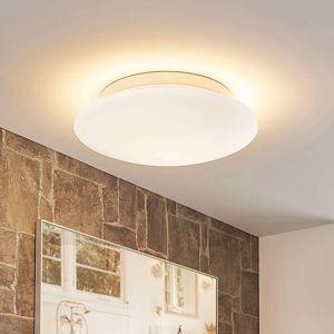 Lampenwelt.com Toan - skleněná stropní lampa, bílá,stmívací, IP44