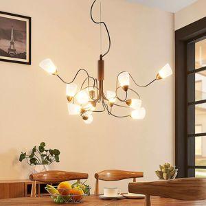 Lampenwelt.com LED závěsné svítidlo Hannes, 12zdrojové, kulaté