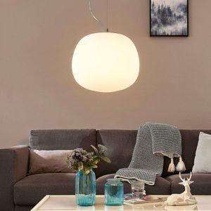 Lampenwelt.com Závěsné světlo Ginevra, kulaté, bílé, 38 cm