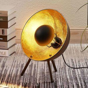 Lindby Stolní lampa Muriel, trojnohá, 38 cm černá/zlatá