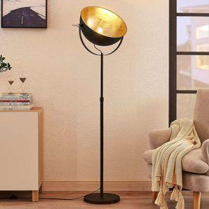 Lindby Stojací lampa Muriel, 1zdrojová, černá/zlatá
