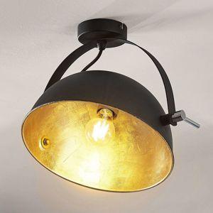 Lindby Stropní svítilna Muriel, černá/zlatá