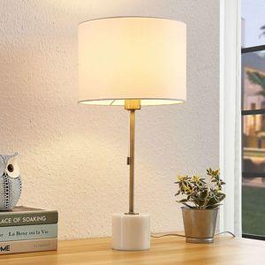 Lindby Lindby Josias stolní lampa s látk. stínidlem, bílá
