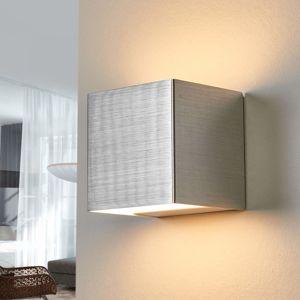 Lampenwelt.com LED nástěnné světlo Kimberly, 9 x 9 cm, hliník