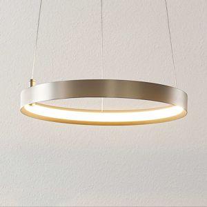 Lucande Lucande Naylia LED závěsné světlo nikl, Ø 40 cm