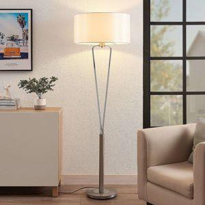 Lucande Lucande Gyda látková stolní lampa, nikl satinovaný