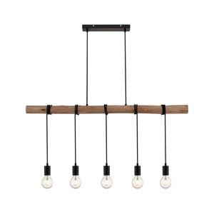 Lindby Lindby Rome závěsné světlo s dřevěnými nosníkem