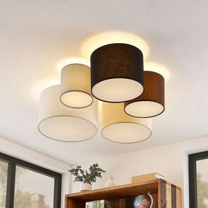 Lindby Lindby Laurenz stropní světlo 5ž 90cm hnědo-béžová