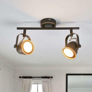 Lindby LED stropní svítilna GU10 Leonor, černá a zlatá