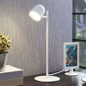Lindby Lindby Ilka stolní lampa LED bílá s vypínačem