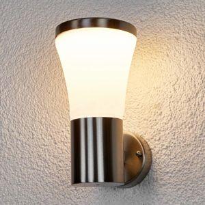 Lindby Nerezové venkovní nástěnné světlo Sumea s LED