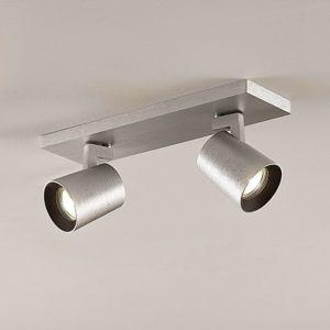 Lampenwelt.com Stropní bodové osvětlení Iavo, hliník, 2zdrojové