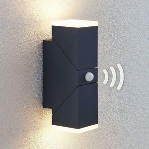 Lindby LED venkovní nástěnné světlo Sally 2zdroj senzor