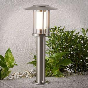Lampenwelt.com LED svítidlo se soklem Gregory, nerezová ocel