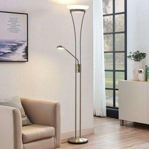 Lindby LED svítidlo Amadou s lampou na čtení, nikl