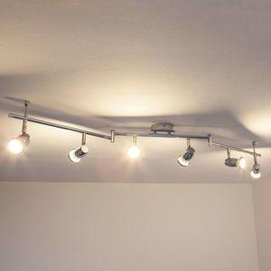 Lindby Šestizdrojové LED stropní světlo Arminius, chrom