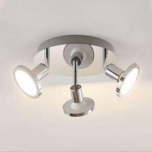 Lindby Lindby Ayden LED stropní světlo, třížár., kulaté
