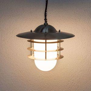 Lindby Dekorativní venkovní závěsná lampa Mian, nerez