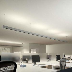 Lampenwelt.com LED kancelářská závěsná lampa Laris, stříbrná
