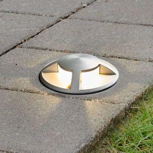 Lucande LED zemní zápustný reflektor Anina, hliník