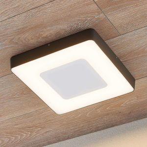 Lucande LED venkovní stropní svítidlo Sora hranaté, snímač