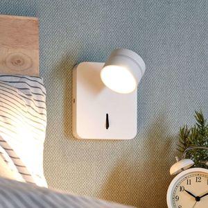 Lucande LED nástěnná lampa Vidda s vypínačem, bílá