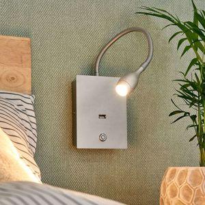 Lampenwelt.com Flexibilní LED nástěnné světlo Marbod se stmívačem