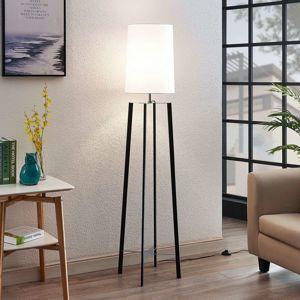 Lucande Látková stojatá lampa Matheas v bílé barvě