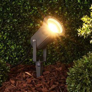 Lindby Tmavě šedý zapichovací reflektor GU10 Spiky