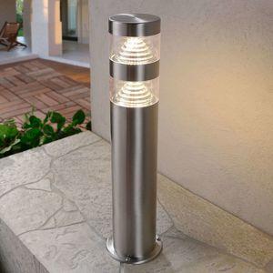 Lindby Svítidlo se soklem z nerezu Lanea s LED 40 cm