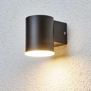Lindby LED venkovní nástěnné svítidlo Morena černé 1zdroj
