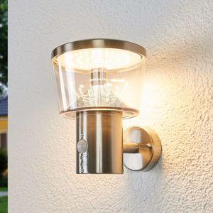 Lindby Venkovní nástěnné svítidlo se senzorem Antje s LED