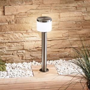 Lampenwelt.com LED svítidlo se soklem Cathleen, nerezová ocel